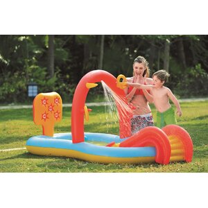 Inflatable Children Interactive Water Play Center with Slide
