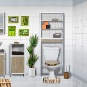 """Montreal 23.62"""" W x 66.5"""" H Over the Toilet Storage"""