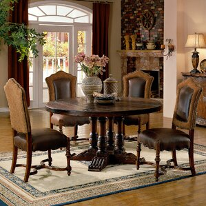 Burgundy Dining Table by Eastern Legends