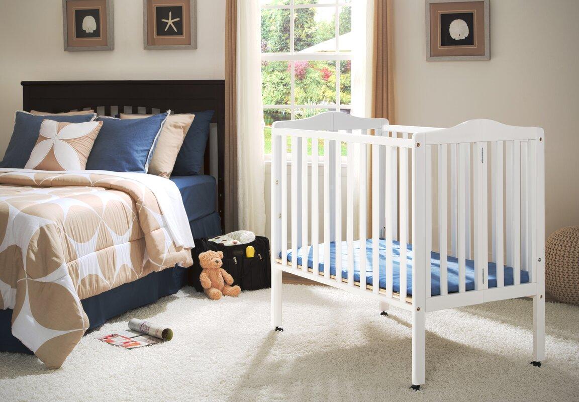 Portable Mini Crib With Mattress