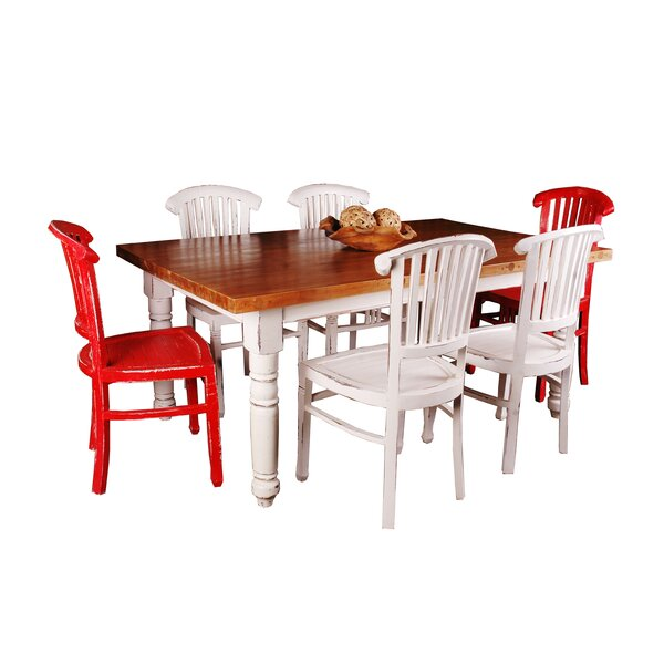 White Washed Dining Table Set | Wayfair