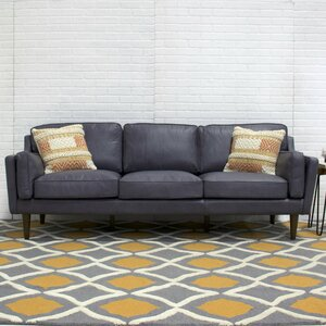 Kaufman Mid Century Modern Leather Sofa Joss Main