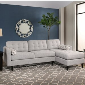 Saver Mid Century Tufted Sectional by Brayden Studio
