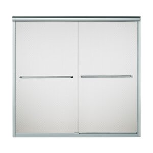 Finesse 59.625'' x 55.5'' Bypass Frameless Bath Door