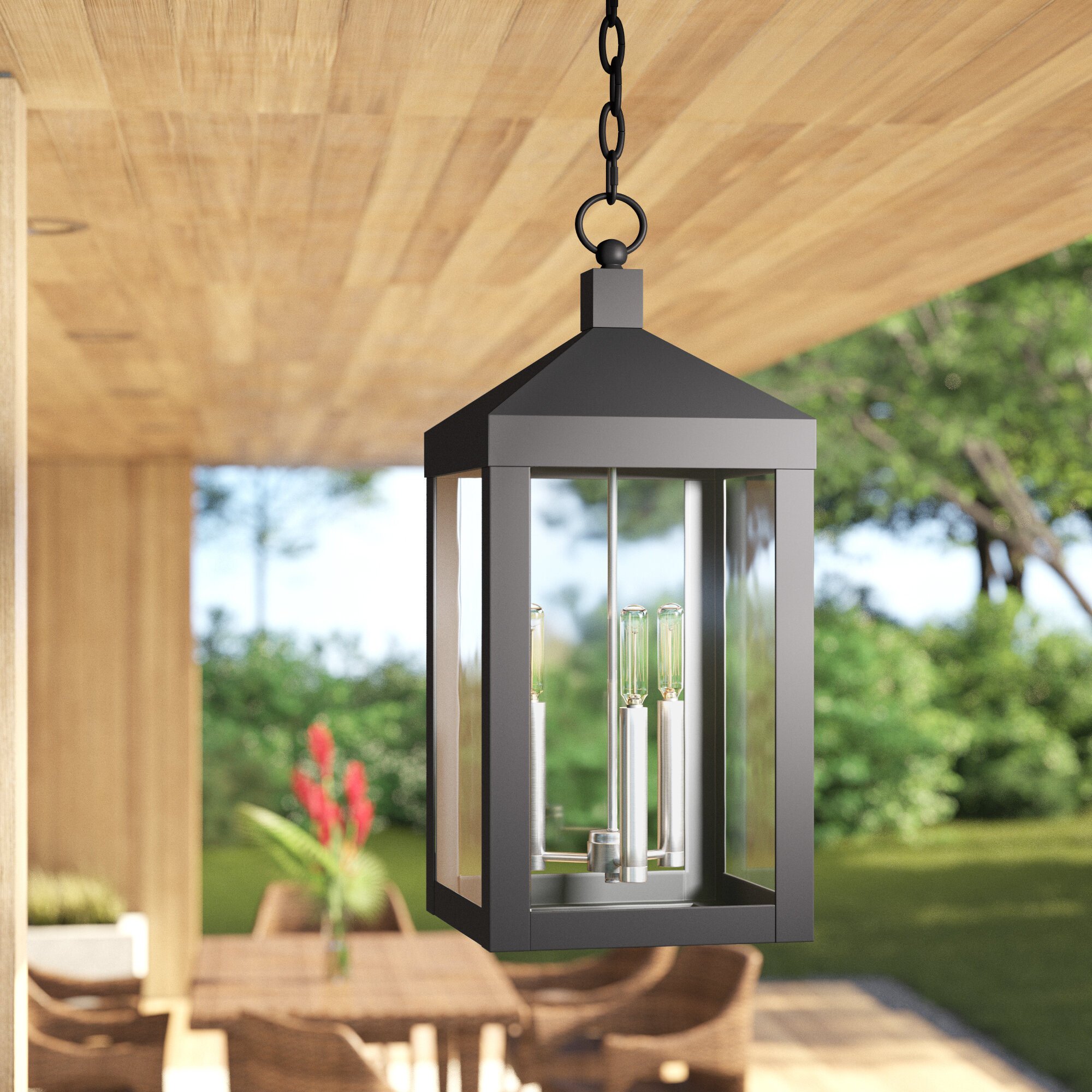 Mercury Row Demery 3 Light Outdoor Hanging Lantern Reviews Wayfair
