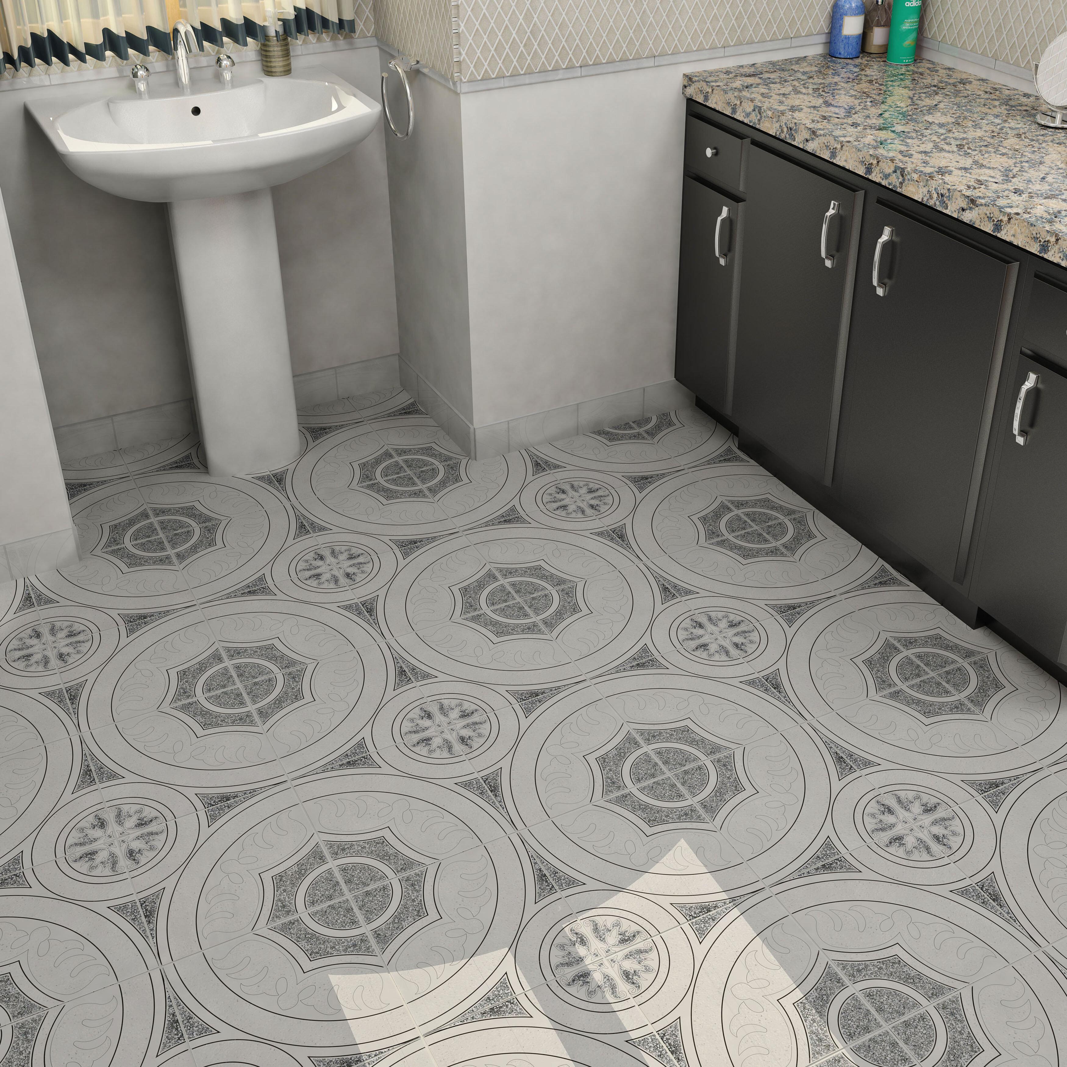 Massa 125 x 125 ceramic field tile in whiteblack allmodern dailygadgetfo Choice Image