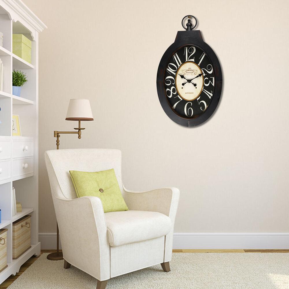 office large size floor clocks wayfair. Vintage-Inspired Pocket \ Office Large Size Floor Clocks Wayfair