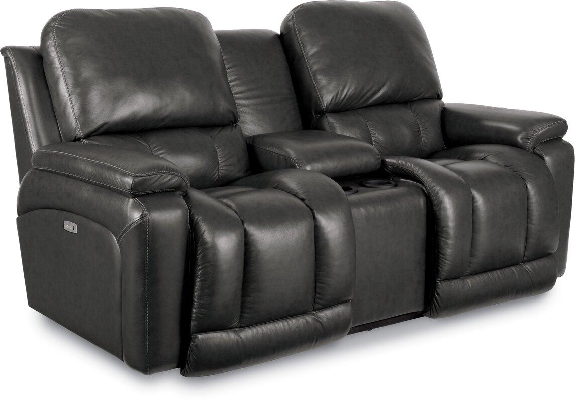 Greyson Leather Reclining Sofa  sc 1 st  Wayfair & La-Z-Boy Greyson Leather Reclining Sofa u0026 Reviews | Wayfair islam-shia.org