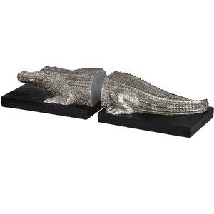 Buchstütze Krokodil von Wildon Home
