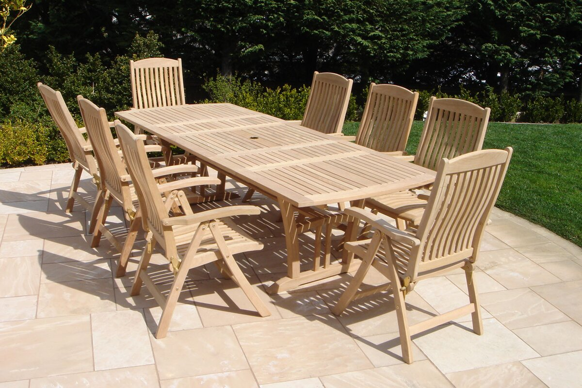 royal teak 9 piece dining set reviews wayfair default name