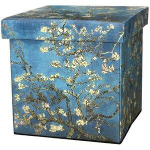 Van Gogh Almond Branch Storage Ottoman by Or..