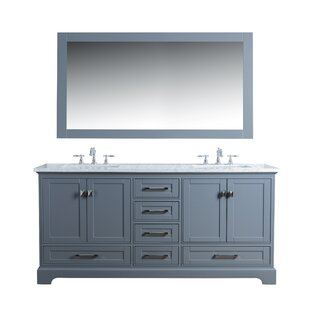 with b gray mirror set olivia double collection dove vanity bn wyndham bathroom ebay s