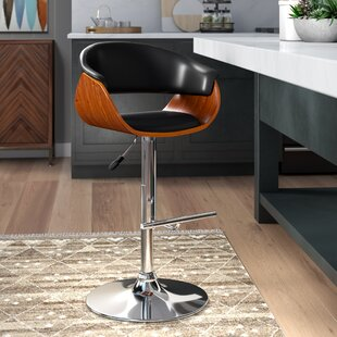 Wingert Adjustable Height Swivel Bar Stool