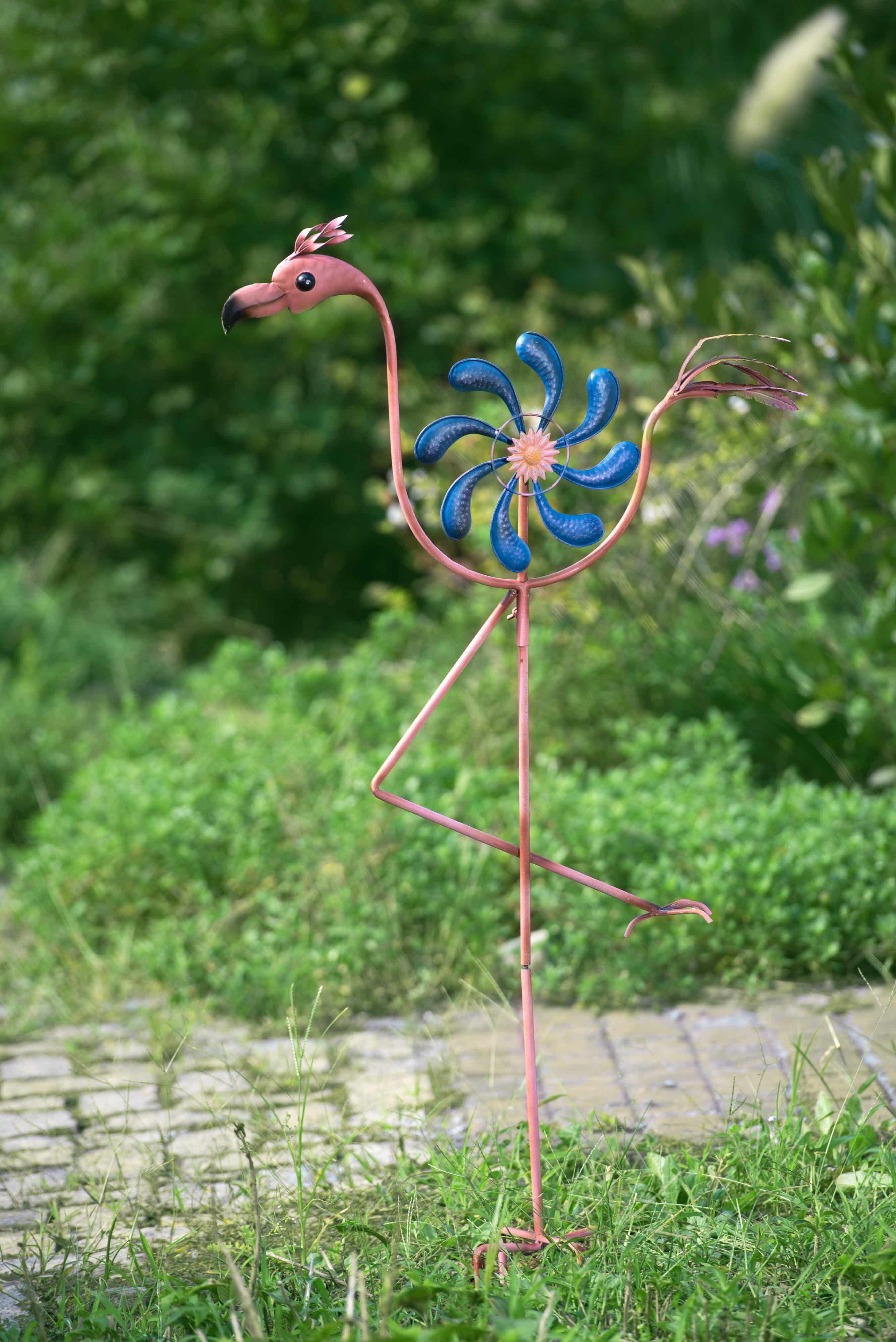 handmade pin flamingo stake flags decoration iron garden philippines pink