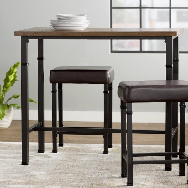 Laurel Foundry Modern Farmhouse Sevigny 3 Piece Pub Table Set u0026 Reviews | Wayfair & Laurel Foundry Modern Farmhouse Sevigny 3 Piece Pub Table Set ...