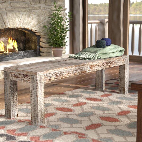 Modus Upholstered Milano Blanket Storage Bench White: Mistana Arakaki Wood Bench & Reviews