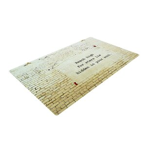 Robin Dickinson Reach High Brick Wall Cream Area Rug