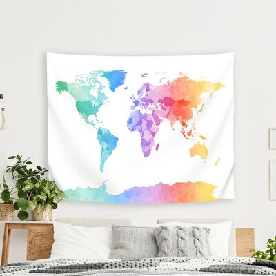 East Urban Home Michael Tompsett - Art Pause Watercolor Map of the ...