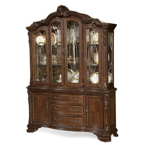 Brussels Ormside Lighted China Cabinet by Astoria Grand
