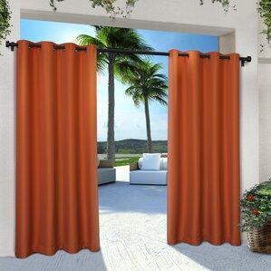denton solid semisheer grommet curtain panels set of 2