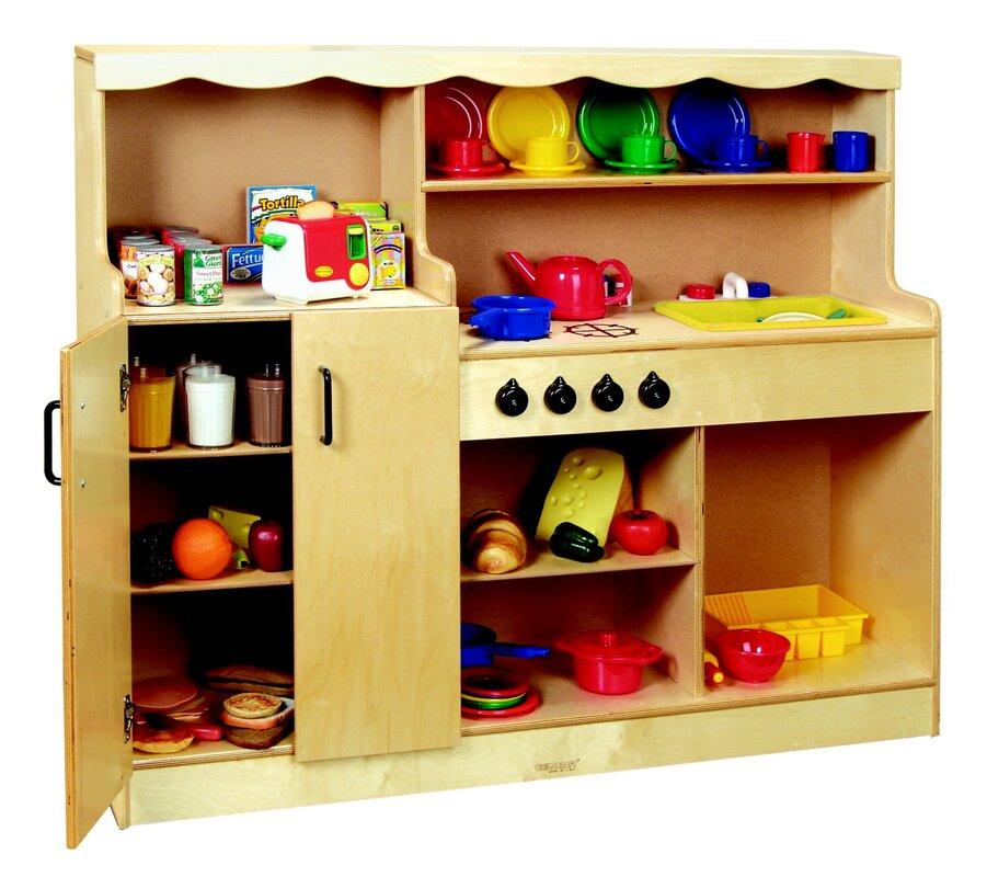 Childcraft 4 in 1 kitchen wayfair for Child craft play kitchen