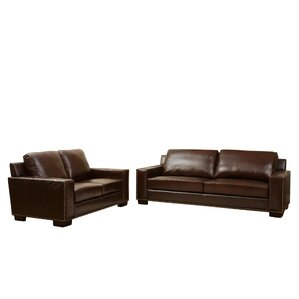 William 2 Piece Leather Living Room Set by D..