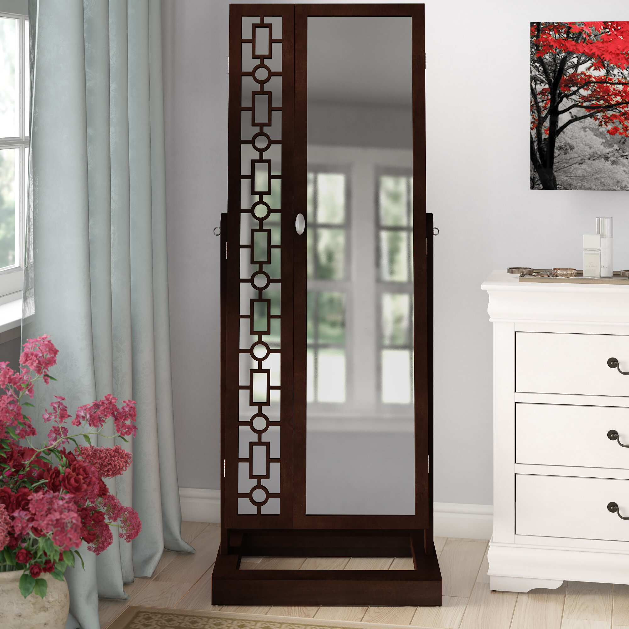 d9b113f1a51 Critchfield Cheval Jewelry Armoire with Mirror