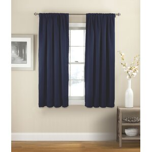 Evangelina Solid Room Darkening Thermal Rod Pocket Single Curtain Panel Part 72