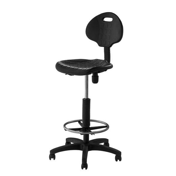 National Public Seating Height Adjustable Self Skin Polyurethane Stool With  Backrest U0026 Reviews | Wayfair