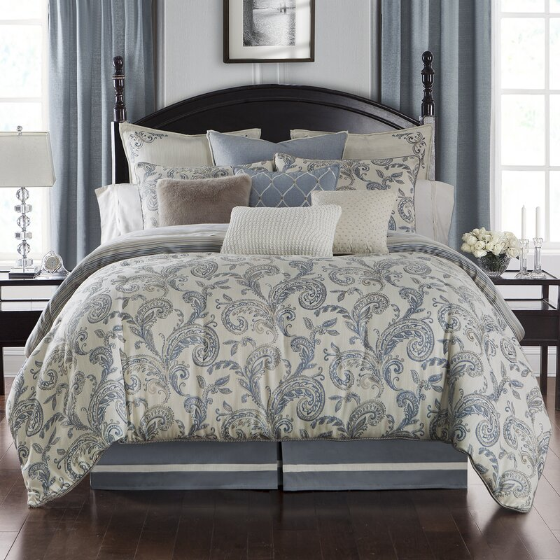 Waterford Bedding Florence 4 Piece Reversible Comforter