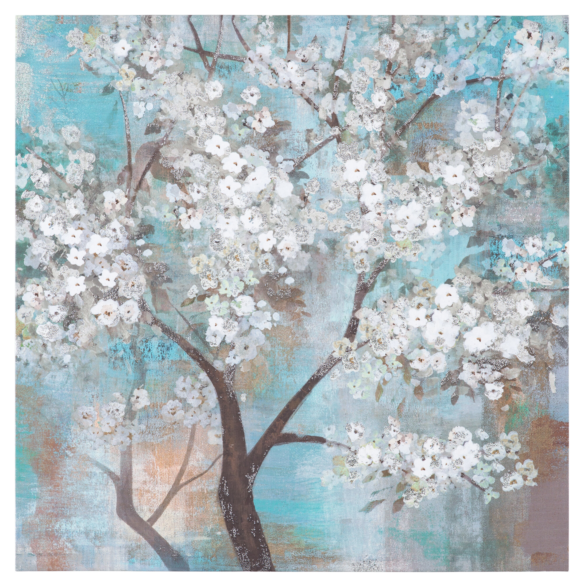 Bungalow Rose Tree In Bloom Painting on Wrapped Canvas & Reviews ...