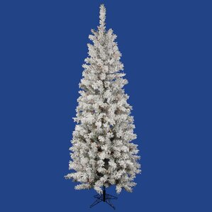 Flocked Pencil Christmas Tree | Wayfair