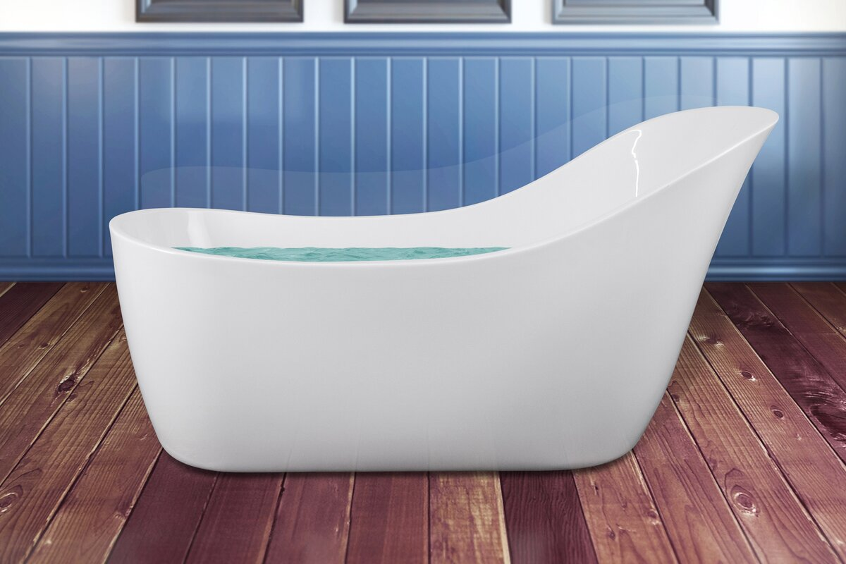 AKDY 67.7\'\' x 35.43\'\' Soaking Bathtub & Reviews | Wayfair