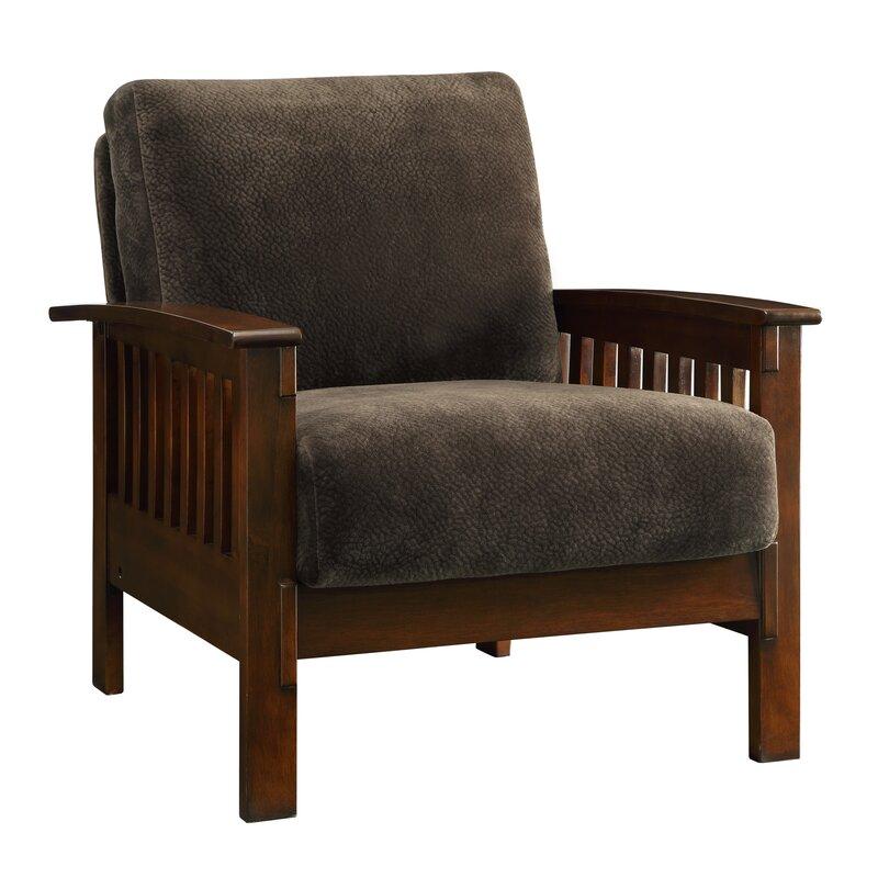 Wayne Mission Fabric Armchair And Ottoman