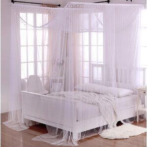 Roldao Crystal Sheer Panel Bed Canopy