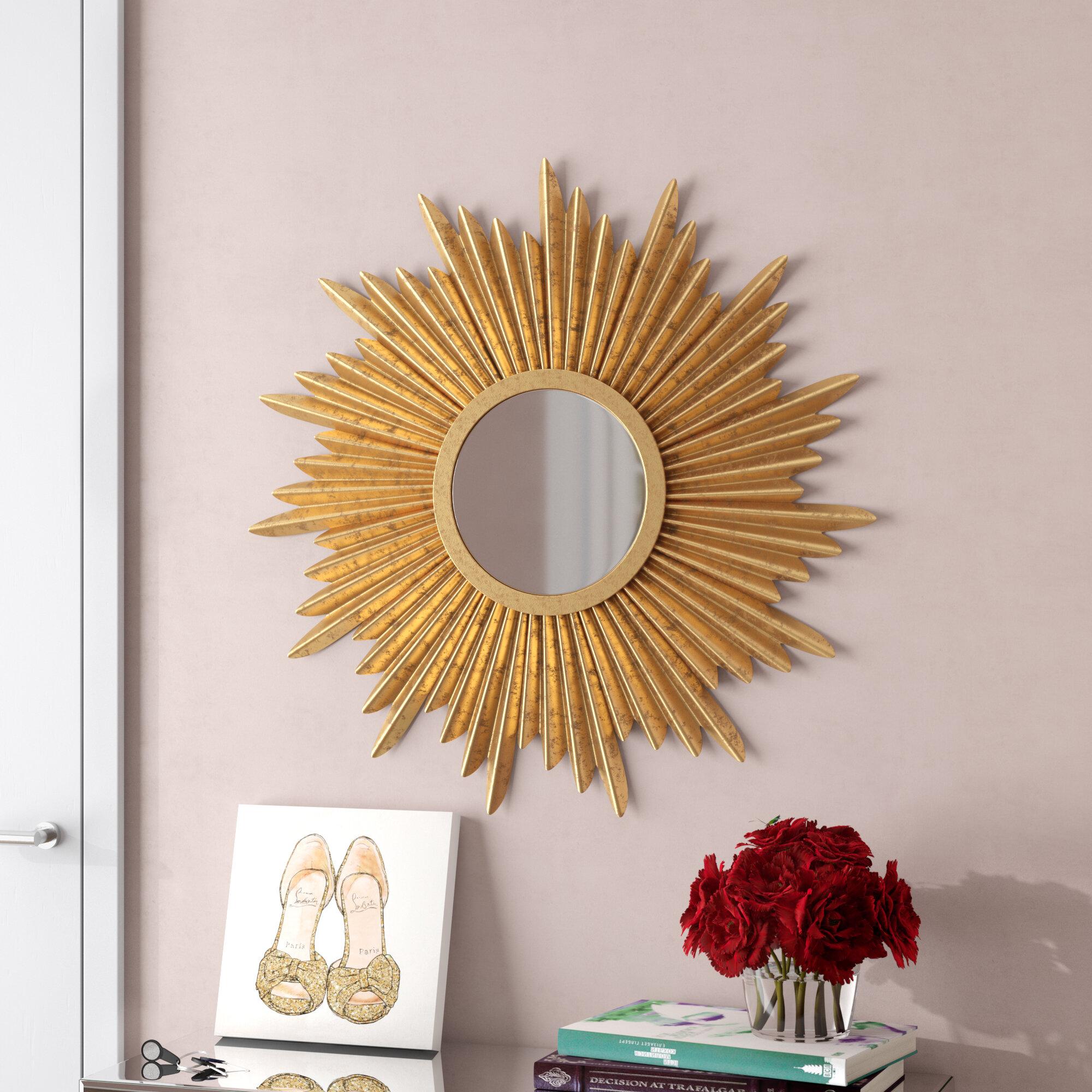 Willa Arlo Interiors Traditional Sunburst Wall Mirror Reviews Wayfair