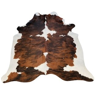 Brindle Extra Large Brazilian Cowhide Brown Rusty Indoor Area Rug