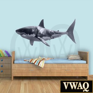 Great White Shark Realistic Peel And Stick Removable Wall Decal