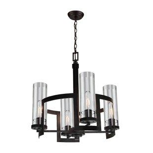 Filament chandelier wayfair thorton 4 light wagon wheel pendant aloadofball Images