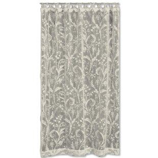 Coventry Nature/Floral Semi Sheer Rod Pocket Single Curtain Panel. By  Heritage Lace