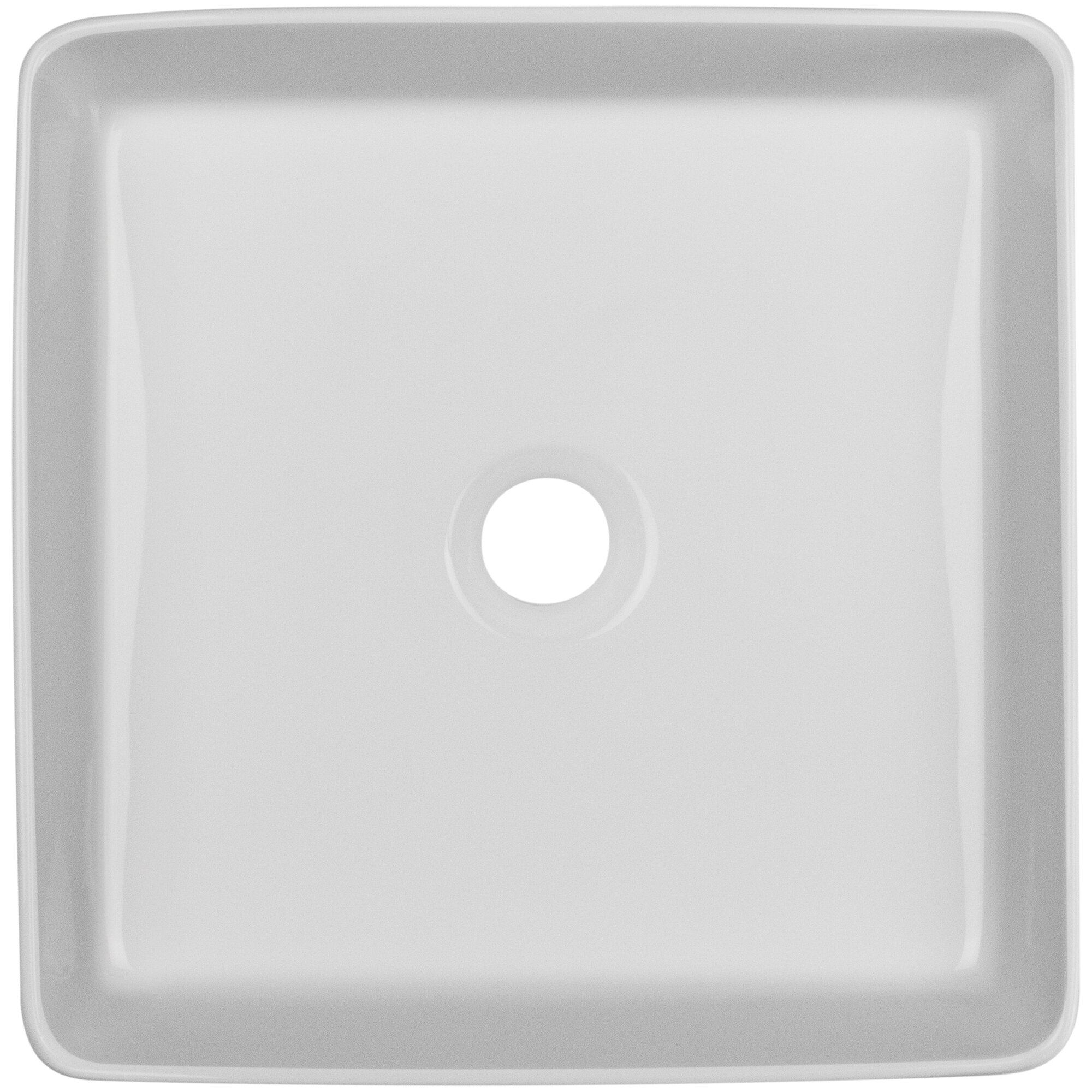Nautilus Series Vitreous China Square Vessel Bathroom Sink