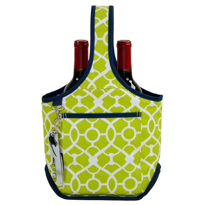 trellis Green Brand New Picnic At Ascot - Green Two Bottle Tote Sporting