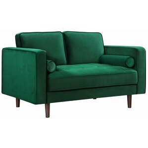 Pamula Chesterfield Loveseat by Everly Quinn