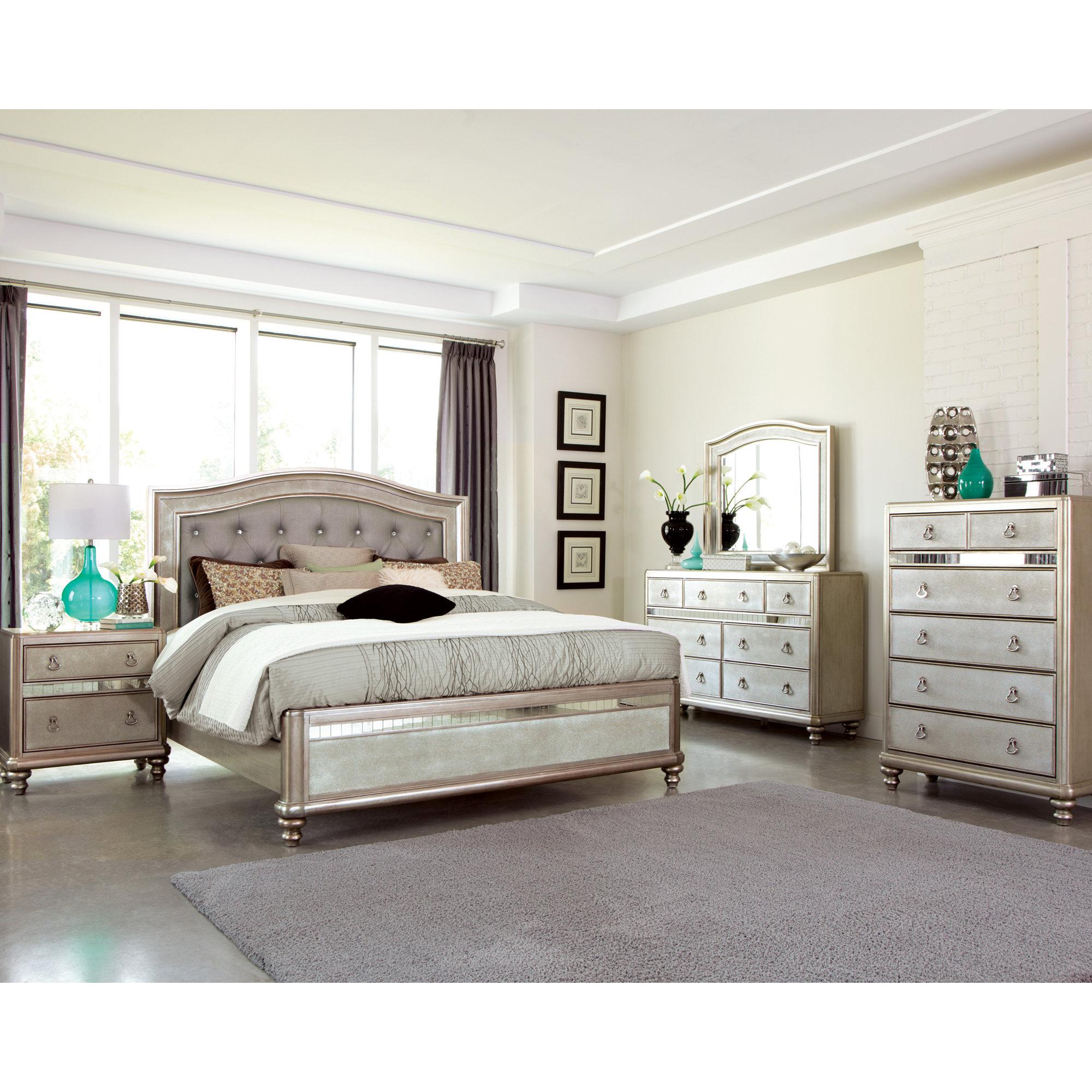 Willa arlo interiors annunziata panel customizable bedroom - Willa arlo interiors keeley bar cart ...