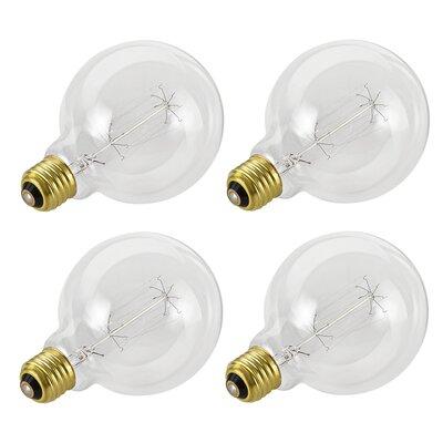 Aspen Creative Corporation 40W E26 Incandescent Edison Globe Light Bulb