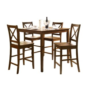 Genebern 5 Piece Counter Height Dining Set