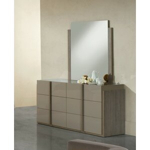 Dibiase 6 Drawer Dresser with Mirror b..