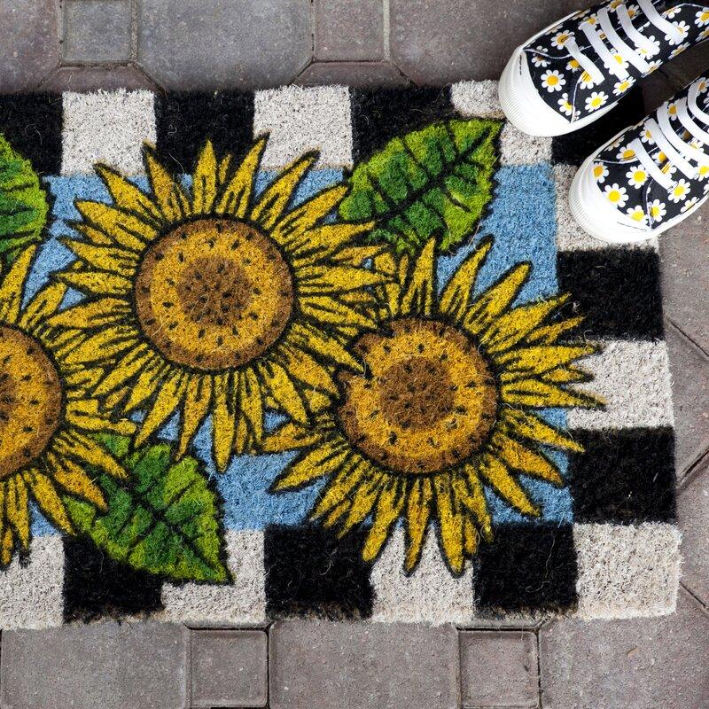 Entryways Checkers Sunflower Doormat Amp Reviews Wayfair