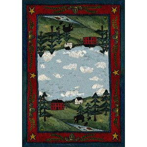 Specialty Black Bear Creek Crackle Area Rug