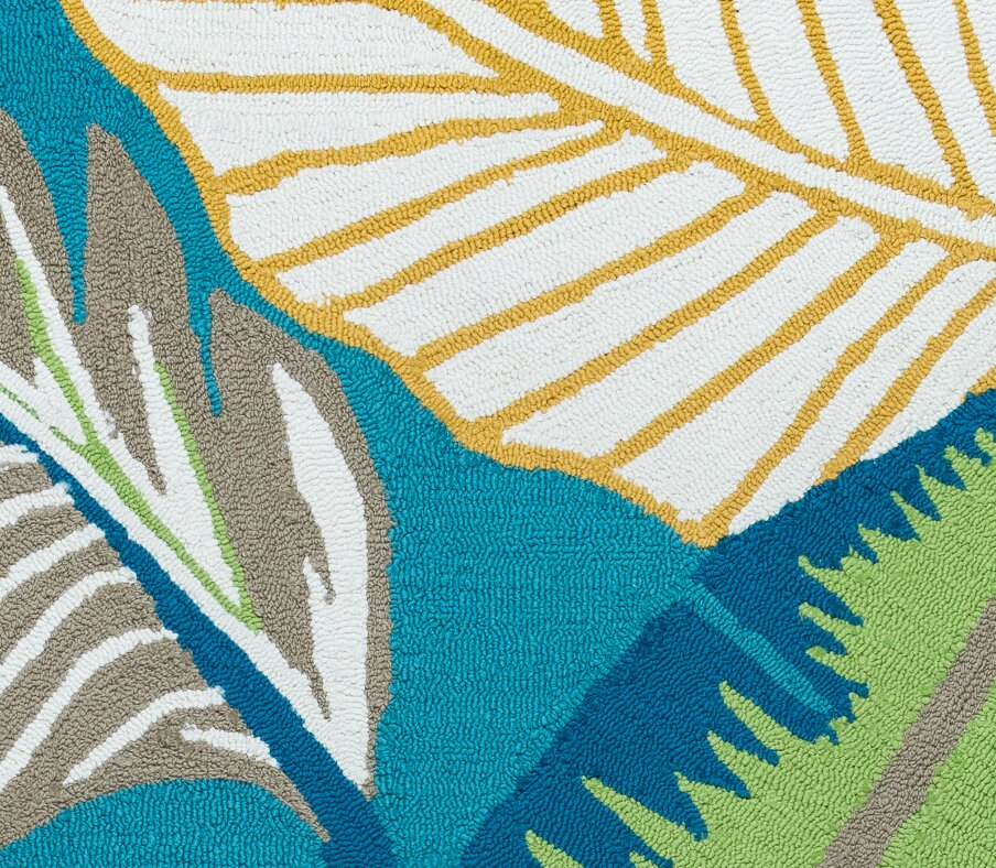 Mako Hand-Tufted Teal Indoor/Outdoor Area Rug & Reviews